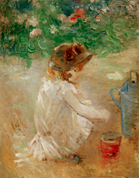 Monet & Impressionist pictures Wall Art as Canvas, Acrylic or Metal Print B.Morisot, Sandkuchen