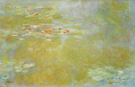 Bestselling Pictures Wall Art as Canvas, Acrylic or Metal Print Claude Monet, Der Seerosenteich