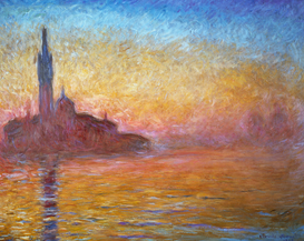 Monet & Impressionist pictures Wall Art as Canvas, Acrylic or Metal Print C.Monet, Dämmerung in Venedig