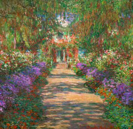 Bestselling Pictures Wall Art as Canvas, Acrylic or Metal Print C.Monet, Garten in Giverny