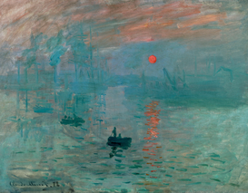 Monet & Impressionist pictures Wall Art as Canvas, Acrylic or Metal Print C.Monet, Impression, Sonnenaufgang