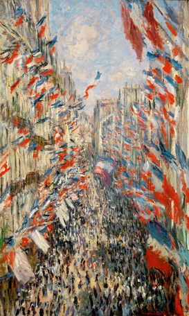 Monet & Impressionist pictures Wall Art as Canvas, Acrylic or Metal Print C.Monet, Rue Montorgeuil am 30.Juni 1878