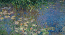 Monet & Impressionist pictures Wall Art as Canvas, Acrylic or Metal Print C.Monet, Seerosenteich, Morgen