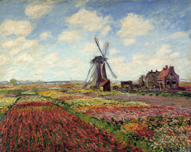 Monet & Impressionist pictures Wall Art as Canvas, Acrylic or Metal Print C.Monet, Tulpenfeld in Holland
