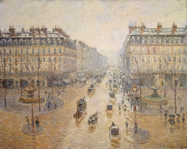 Monet & Impressionist pictures Wall Art as Canvas, Acrylic or Metal Print C.Pissarro, Avenue de lOpéra