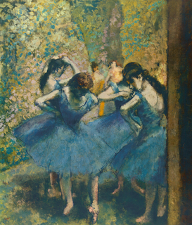 Monet & Impressionist pictures Wall Art as Canvas, Acrylic or Metal Print Edgar Degas, Danseuses en bleu
