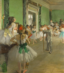 Monet & Impressionist pictures Wall Art as Canvas, Acrylic or Metal Print Edgar Degas, La classe de danse/1873-76