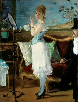 New Pictures Wall Art as Canvas, Acrylic or Metal Print Edouard Manet, Nana