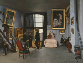 Monet & Impressionist pictures Wall Art as Canvas, Acrylic or Metal Print F.Bazille, Latelier de Bazille