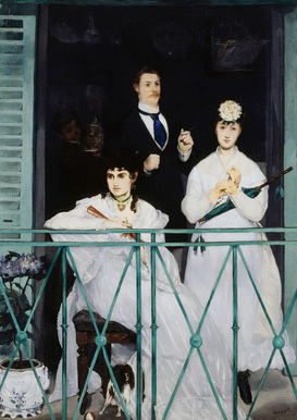 Monet & Impressionist pictures Wall Art as Canvas, Acrylic or Metal Print Manet / Der Balkon / 1868