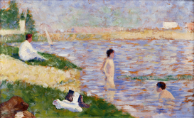 Monet & Impressionist pictures Wall Art as Canvas, Acrylic or Metal Print Seurat,Studie zu Badeplatz bei Asnières
