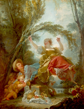 Rembrandt & Baroque pictures Wall Art as Canvas, Acrylic or Metal Print Fragonard, Die Schaukel