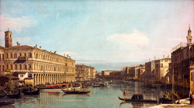 Rembrandt & Baroque pictures Wall Art as Canvas, Acrylic or Metal Print Venedig, Canal Grande / Canaletto