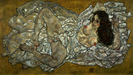 New Pictures Wall Art as Canvas, Acrylic or Metal Print E. Schiele, Liegende Frau/ 1917