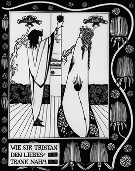 Van Gogh & Modernism pictures Wall Art as Canvas, Acrylic or Metal Print Tristan und Isolde / Beardsley