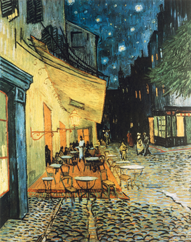 Bestselling Pictures Wall Art as Canvas, Acrylic or Metal Print V.van Gogh, Terrasse des Cafes in Arles