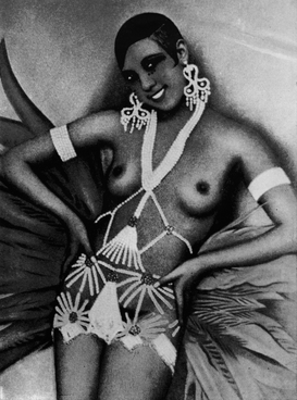 Nude, erotic & pin-up pictures Wall Art as Canvas, Acrylic or Metal Print Josephine Baker im Kostüm um 1930