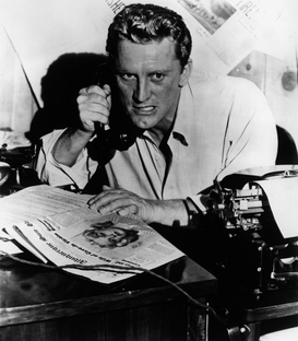 Movie stars & iconic figure pictures Wall Art as Canvas, Acrylic or Metal Print Kirk Douglas in Reporter des Satans
