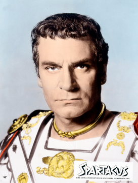 People pictures Wall Art as Canvas, Acrylic or Metal Print Laurence Olivier in Spartacus