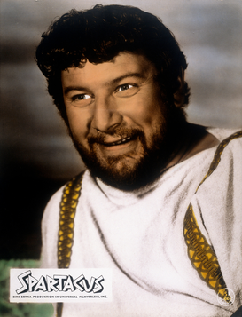 Movie stars & iconic figure pictures Wall Art as Canvas, Acrylic or Metal Print Peter Ustinov in Spartacus