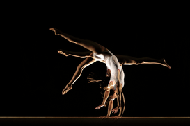 Dance pictures Wall Art as Canvas, Acrylic or Metal Print gymnast multiple image on beam