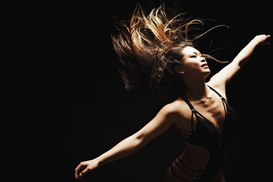 Dance pictures Wall Art as Canvas, Acrylic or Metal Print Hip Hop Dancer Performing in Studio