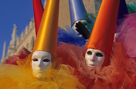 Circus, fair & carnival pictures Wall Art as Canvas, Acrylic or Metal Print italy, veneto, venice, carnival mask                                        ...