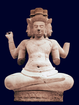 Foto: Azië - Statue of Brahma from the Baset Temple.