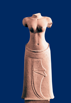 Foto: Azië - Unfinished statue of female buddhist