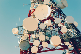 Foto: Satelliet- & luchtfoto's - Communication mast, Mijas, Costa del Sol, Malaga Province, Spain