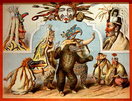 Vintage Art Pictures Wall Art as Canvas, Acrylic or Metal Print Bella-Coola-Indianer / Plakat, 1885