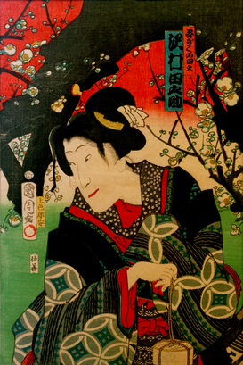 Vintage Illustration Wall Art as Canvas, Acrylic or Metal Print T.Kunichika, Tanosuke Sawamura III.