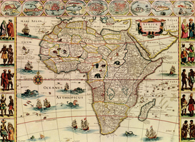 Antique Map Posters Wall Art as Canvas, Acrylic or Metal Print Maps - Africa