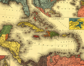 Antique Map Posters Wall Art as Canvas, Acrylic or Metal Print Maps - Caribbean