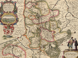 Antique Map Posters Wall Art as Canvas, Acrylic or Metal Print MAPS - Limburg - 1622