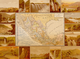 Antique Map Posters Wall Art as Canvas, Acrylic or Metal Print MAPS - Mexico