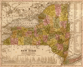 Antique Map Posters Wall Art as Canvas, Acrylic or Metal Print MAPS - New York