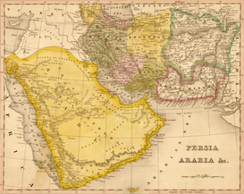 Vintage Art Pictures Wall Art as Canvas, Acrylic or Metal Print MAPS - Persia & Arabia