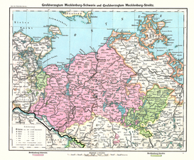 Antique Map Posters Wall Art as Canvas, Acrylic or Metal Print Mecklenburg / Landkarte 1902