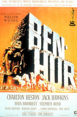 Movie Posters Wall Art as Canvas, Acrylic or Metal Print BEN-HUR (1959)