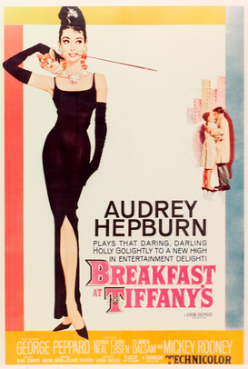 Vintage Art Pictures Wall Art as Canvas, Acrylic or Metal Print BREAKFAST AT TIFFANY'S