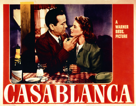 Movie Posters Wall Art as Canvas, Acrylic or Metal Print Casablanca