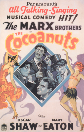Vintage Art Pictures Wall Art as Canvas, Acrylic or Metal Print Die Marx Brothers: Cocoanuts / Plakat