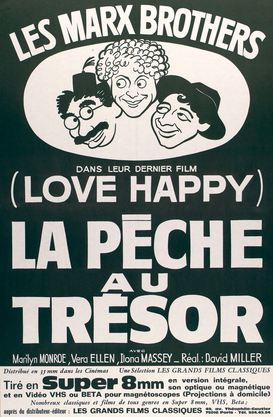 Filmposters bijv. als canvasfoto of wandfoto achter acrylglas: Die Marx Brothers: Love Happy/Plakat
