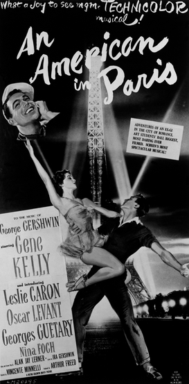 Movie Posters Wall Art as Canvas, Acrylic or Metal Print Ein Amerikaner in Paris         USA 1951
