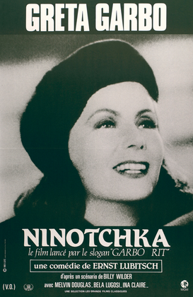 Vintage Art Pictures Wall Art as Canvas, Acrylic or Metal Print Greta Garbo in Ninotschka
