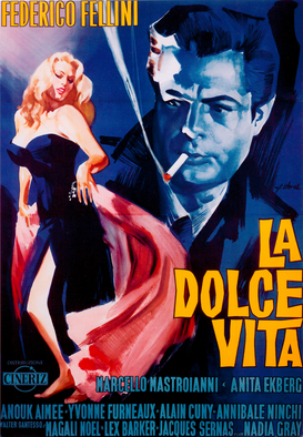 Movie Posters Wall Art as Canvas, Acrylic or Metal Print La dolce vita / Plakat