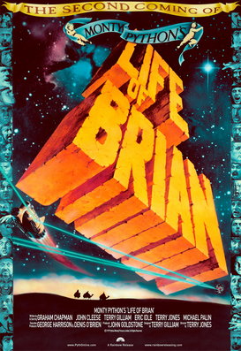 Movie Posters Wall Art as Canvas, Acrylic or Metal Print LIFE OF BRIAN