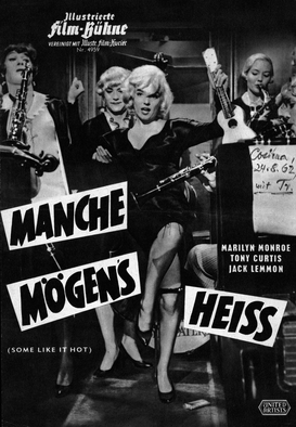 Movie Posters Wall Art as Canvas, Acrylic or Metal Print Manche mögen's heiß' / Standfoto