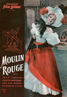 Vintage Art Pictures Wall Art as Canvas, Acrylic or Metal Print Moulin Rouge / Ill.Film-Bühne